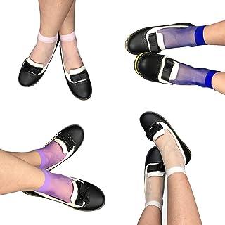 STOCKING RIOT   Pack of 4 coloured Ankle Socks   Electric Anklet Range