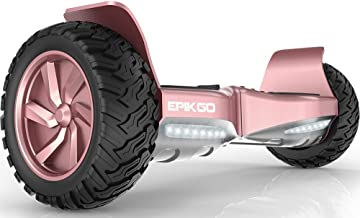 """EPIKGO Self Balancing Scooter Hover Self-Balance Board - UL2272 Certified, All-Terrain 8.5"""" Alloy Wheel, 400W Dual-Motor, LG Battery, Board Hover Tough Road Condition [Classic Series, Rose Gold]"""