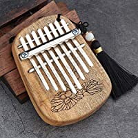Murakush カリンバ サムピアノ 親指ピアノ 8キー 初心者 キーボード マリンバ ポータブル ウッド楽器 トゥーンウッド[K-8CA]