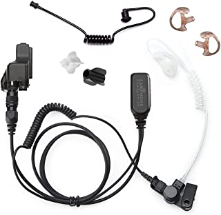 Radio Earpiece for Motorola XTS Series, EP1323QR Quick Release Hawk Lapel Mic, Police Surveillance Headset, Includes Exclu...