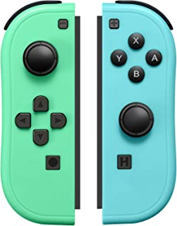 JoyCon Controller Compatible with Switch Joy Cons with Grip Hand,Switch Controllers Supports Wake-up Function (Blue and Gr...