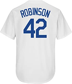 Jackie Robinson Brooklyn Dodgers #42 Youth Cool Base Home Jersey (Youth Large 14/16)