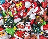 30 Stück Weihnachtsmann Schleim-Perlen süßer Weihnachtsbaum Charms Harz Ornamente Zubehör für...