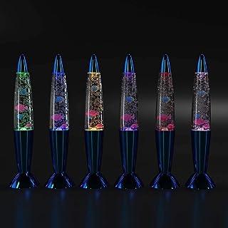 Lámparas de lava de mini peces, lámparas de lava de 14 pulgadas para niños, Lava Night Light LED Color Sensory Cambiando Aquarium Lamp, regalos para niños grandes para autismo Juguetes sensoriales
