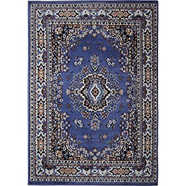 Persian-Inspired Area Rug by Home Dynamix | Premium Collection Sakarya Rug, Style on a Budget | Indoor Stylish Decorative Rug in Purple | Traditional Medallion Style  5'2  x 7'4
