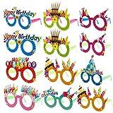 Grapes Garden 12 Stück Brille Geburtstag Spassbrillen Partybrillen Kinder Partybrillen Set Happy...