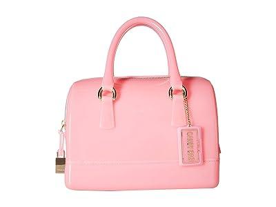 Furla Candy Cookie Small Satchel (Flamingo) Satchel Handbags