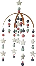 Baby Cot Mobile by TIK Tak Design Co – Felt Ball Mobile for Your Boy Or Girl Babies Bed Room – 100% NZ Wool - Designer Colors to Match Your Nursery and Delight Your Child (Carnival)