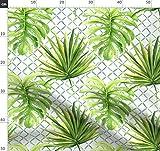 Dschungel, Gitter, Palmen, Grüne Blätter, Tropische