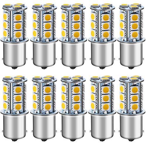 Warm White Leisure LED 12 Volt RV Led Light Bulbs BA15s 20-99//1141 1156 12V Vanity Replacement Bulbs for 5th Wheel Camper Trailer Motorhomes Marine Boat Interior Light Bulb 3000K Warm White 3 Pack