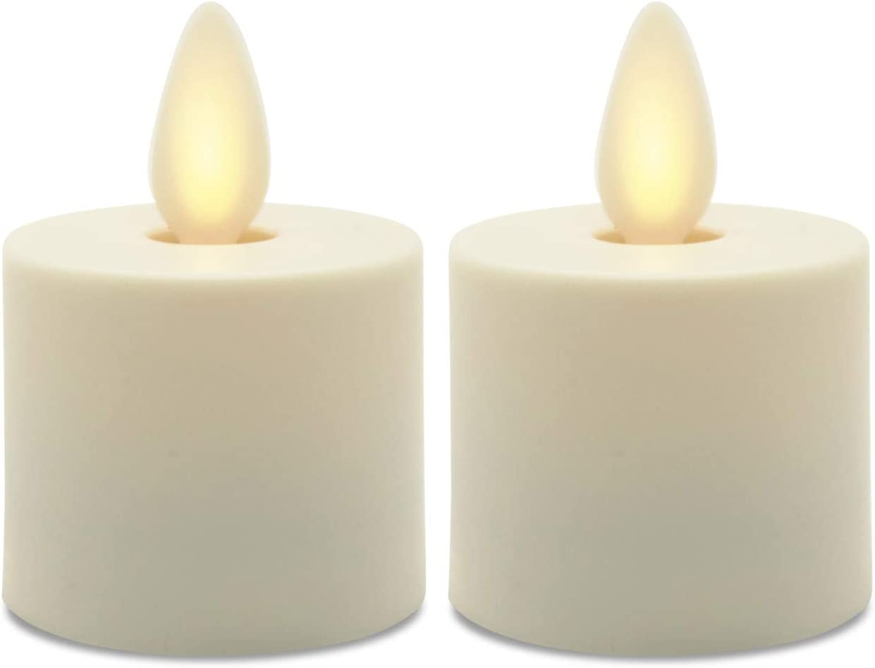 Matchless Direct store LED Tealight Flameless 2-Pack Unscent Candles Ivory Max 64% OFF