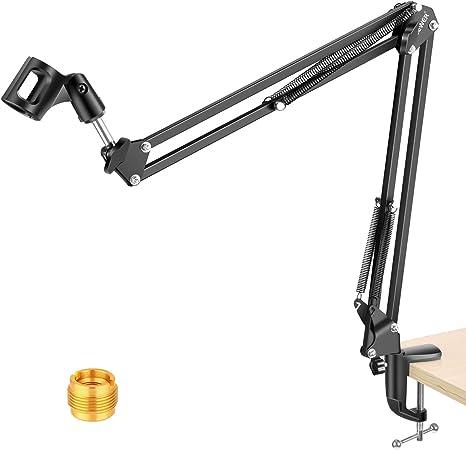 NEEWER Adjustable Microphone Suspension Boom Scissor Arm Stand