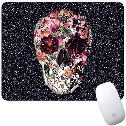 Marphe Mouse Pad Mousepad Non-Slip Rubber Gaming Mouse Pad Rectangle Mouse Pads for Computers Laptop (Floral Skull)