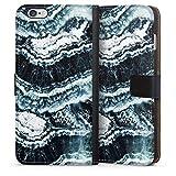DeinDesign Étui Compatible avec Apple iPhone 6s Plus Étui Folio Étui magnétique Marbre Vague Art