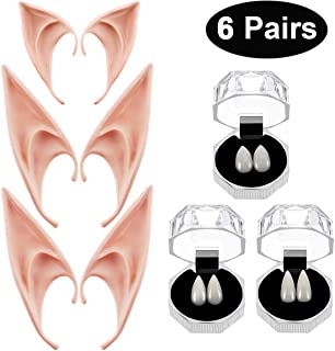 Vampire Teeth Fangs Elf Ears Boxes for Halloween Costume Accessory Party Favors