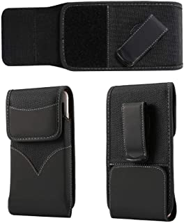 DFV mobile - New Style Nylon Belt Holster with Swivel Metal Clip for Samsung Galaxy C7 Pro (2017) - Black