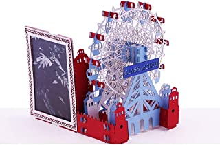 Ferris Wheel 3D Pop Up Greeting Card - Special Premium Gift For Family, Friends, Loved Ones - For Any Occasion, Thank You, Congratulations - Fold Flat, Envelope Included - by Promotion Art Gift