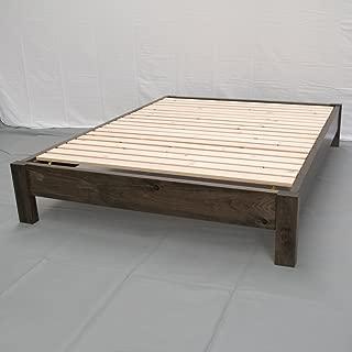 Rustic Farmhouse Platform Bed - King/Traditional Platform Frame/Wood Platform Reclaimed Bed/Modern/Urban/Cottage Platform Bed