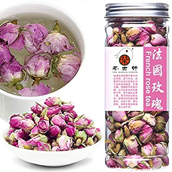 Plant Gift France Rose Tea Fragrant Natural Pink Rosa Damascena Rose Buds Flower Tea Rose Petals Organic Culinary Food Grade Health Natural Herbal Flower Tea 50g/1.76oz