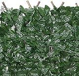 Ronglibai Artificial Pantalla Valla seto Artificial Hiedra Valla Artificial Hiedra Artificial Cercas Decorativas Pantalla de cercas de privacidad Setos Artificiales Hoja de Vid de Hiedra de imitación
