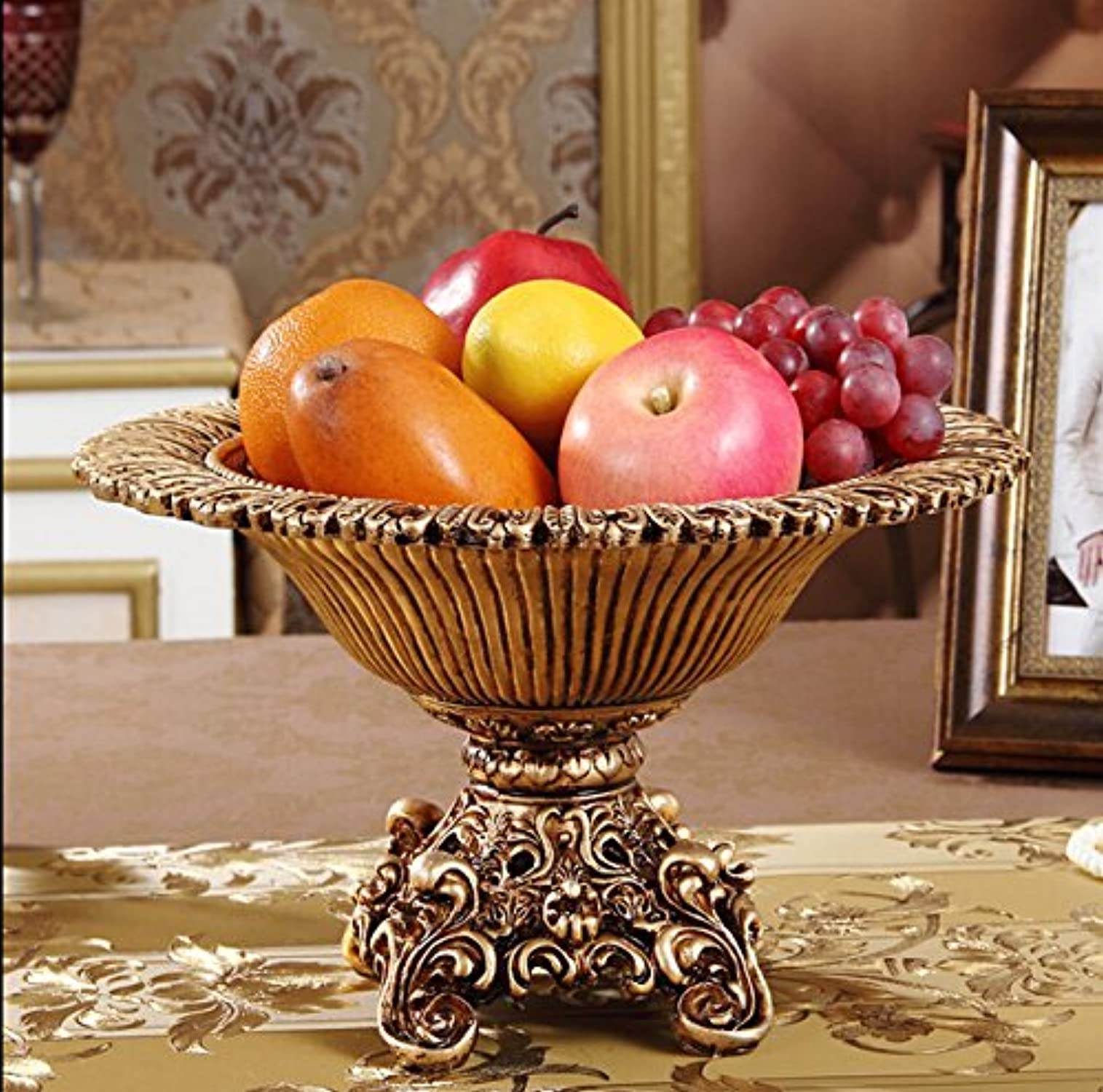 MLGG Fruits Continental Bol Vintage Palace Luxe décoration Salon Table Basse OrneHommests résine compocravater