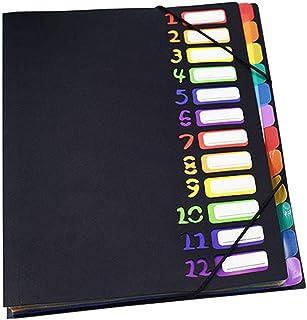 Exacompta 948219 Classeur avec Intercalaires 12 compartiments Couleurs Assorties