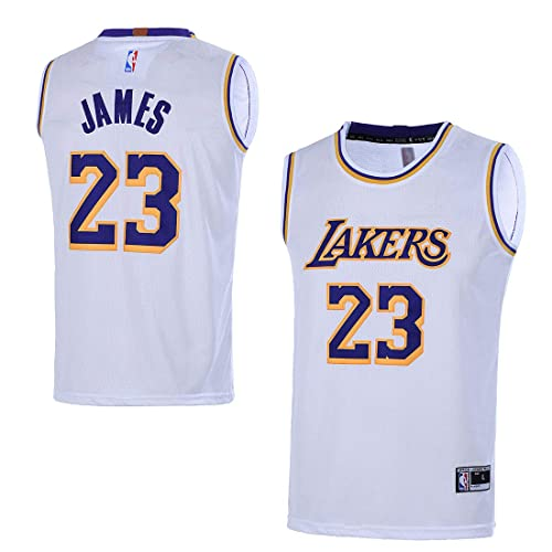 superior quality b978b b97fc Men's Lebron James Lakers Jersey: Amazon.com