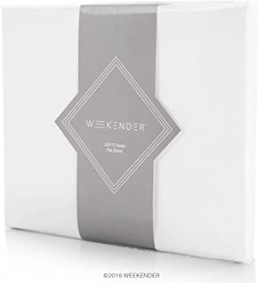 Weekender 200 Thread Count Hotel Flat Sheet-Cotton Rich Blend-White-Full