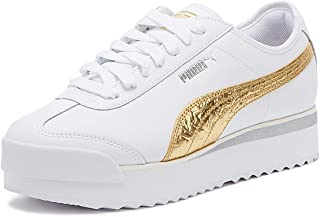 PUMA Roma Amor Metal Womens White/Gold Trainers