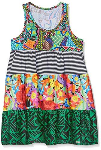 Banana Moon M MIGNONS Beach Vestido, Multicolor (Vert HABANERA/POMHABANE/D GXJ47), 92 cm para Niñas