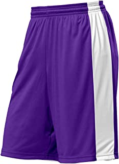 Adult Active Basketball Running Fitness Gym Shorts 3XL Purple 9/'/' Inseam Dazzle