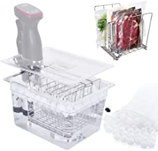 Sous Vide Container with Lid 12.5 Quarts + Rack + WaterBalls 200PcsFamilySize