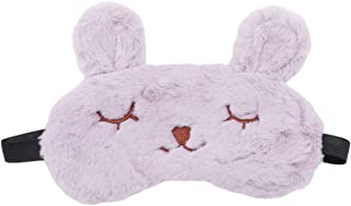 LALANG Cute Cartoon Animal Sleep Eye Mask Good Rest Normal Eyeshade Protection Cover(purple)