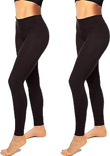 High Waisted Leggings for Women-Womens Black Seamless Workout Leggings Running Tummy Control Yoga Pants Reg&Plus Size