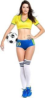 Cheerleading Uniform for Womens Sexy Football Short Sleeve Shirt Sets Cosplay Costume
