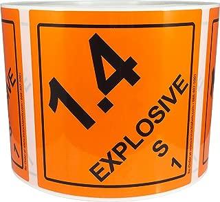 1.4 S Hazard Class 1 D.O.T Label