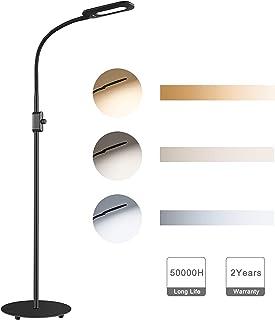 comprar comparacion AUKEY Lámpara de Pie Regulable con Perilla de Control de Brillo y Cuello Flexible, Lámpara LED Cuidado de Ojos, Luz Blanca...