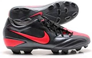 New Nike Jr T90 Shoot FG Size Yth 6y Soccer Cleat Black/Red 472567
