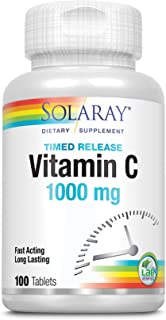 Solaray Vitamin C 1000mg | con Escaramujo y Acerola | Acció