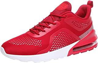 Men Solid Casual Sneakers, Male Mesh Breathable Cushion Sport Shoes Outdoor Ultra Light Casual Running Shoes