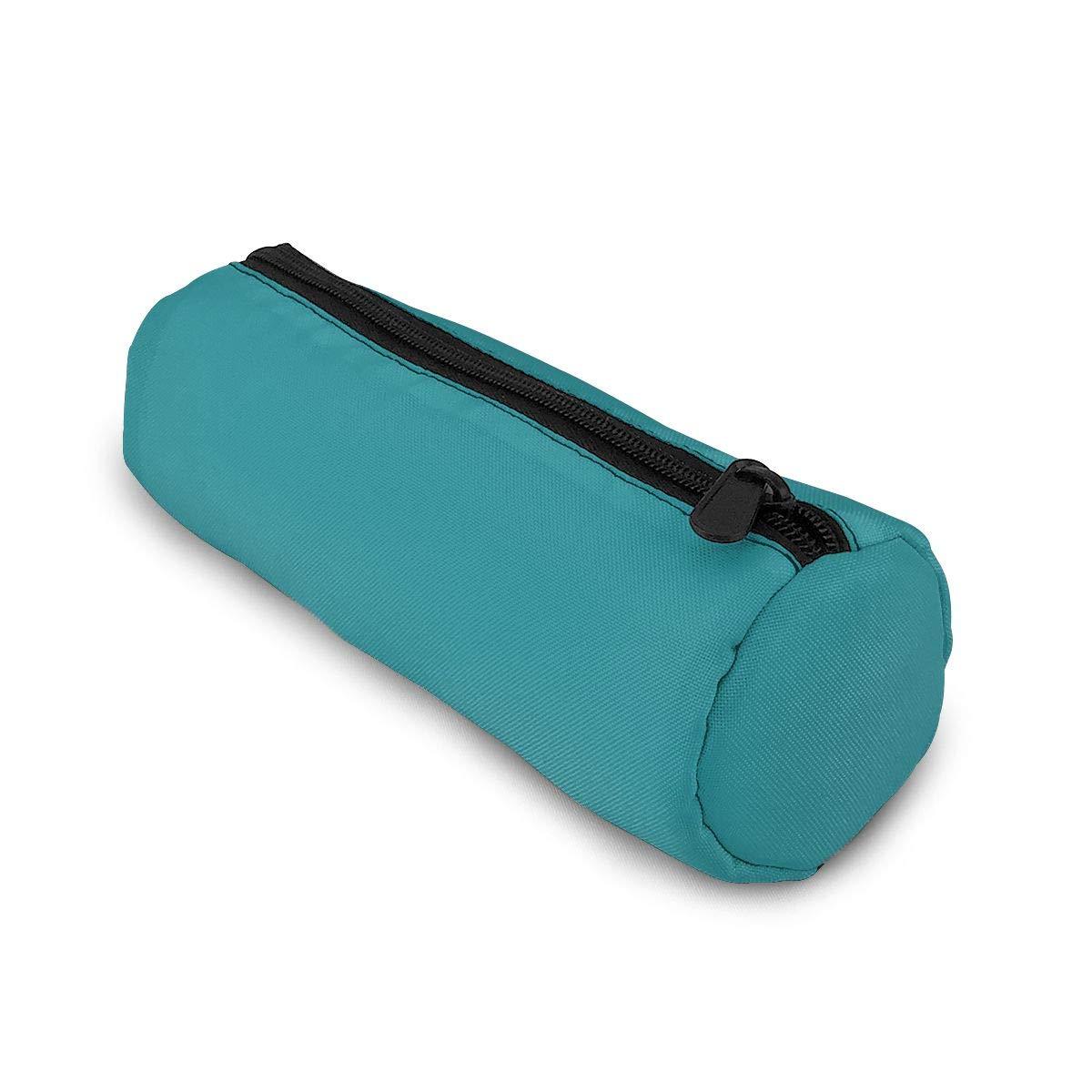 Estuche cilíndrico de mediados de siglo sólidos, color verde azulado: Amazon.es: Oficina y papelería