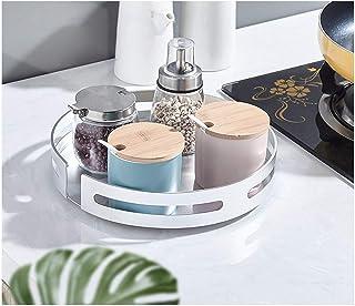 F-XW Étagère à épices Rotative,Plateau Tournant pour Le Placard Rond,Rangement Maquillage en Métal,20cm 25cm Armoire De Cu...