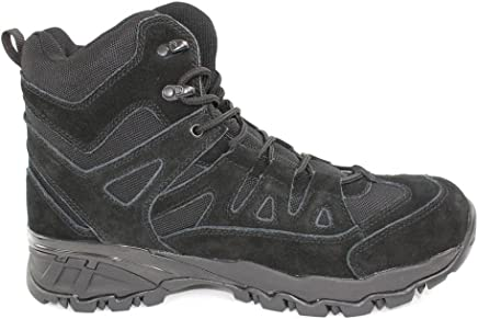 Mil-Tec Black SQUAD BOOTS Lightweight Hiking Shoes : boots