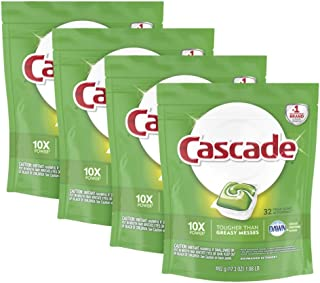 Cascade ActionPacs Dishwasher Detergent, Fresh Scent, 128 ct, Tub Refill Bags