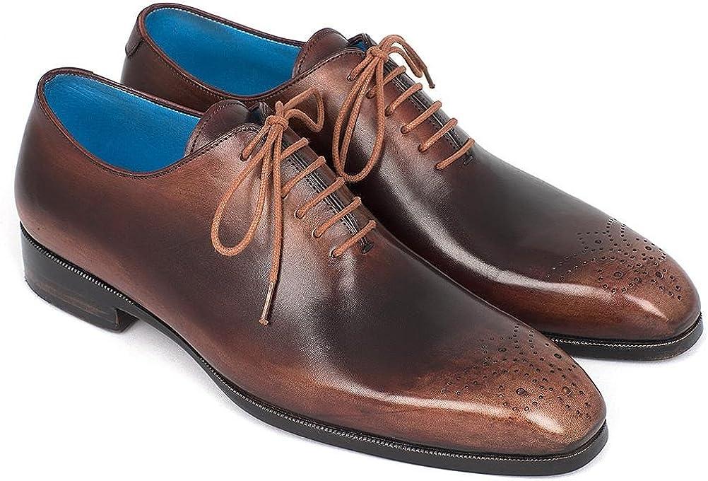 Paul Parkman Men's Camel & Brown Wholecut Oxfords Shoes (ID#KR254CML)