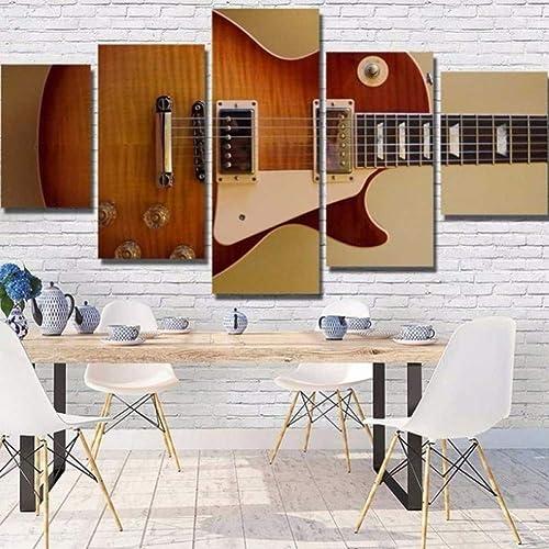 tienda de ventas outlet YHEGV Impresiones en Lienzo Decoración para el el el hogar Impresión en Lienzo Pintura 5 Instrumentos del Panel Guitarra Arte de la Parojo Pintura en Lienzo Cuadro en la Parojo para Sala de Estar Impresio  gran selección y entrega rápida