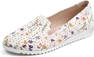 Flats Loafers Women,Casual Hollow Flowered Print Breathable Ballet Shoes
