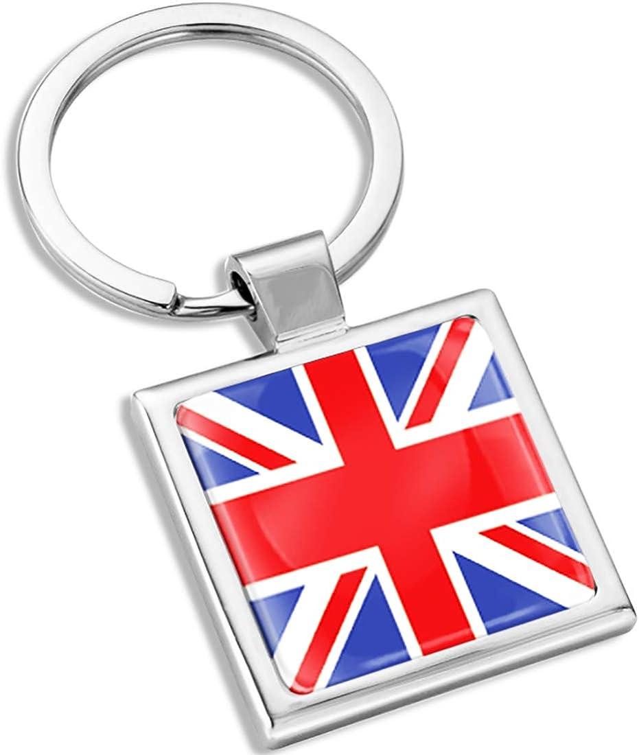 Biomar Labs 3D Metal Keyring Key Chain Gift Men Women Keychain Giftbox United Kingdom UK GB Union Jack Great Britain National Flag KK 283