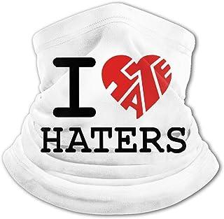 I Love Haters - Pasamontañas para el cuello con protección UV, resistente al viento, multifunción, para niños y niñas