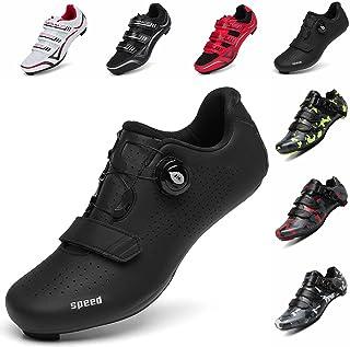 أحذية ركوب الدراجات للرجال والنساء من SAK1TAMA - حذاء ركوب دوار متوافق مع SPD مع أحذية Beloton للاستخدام الداخلي والخارجي